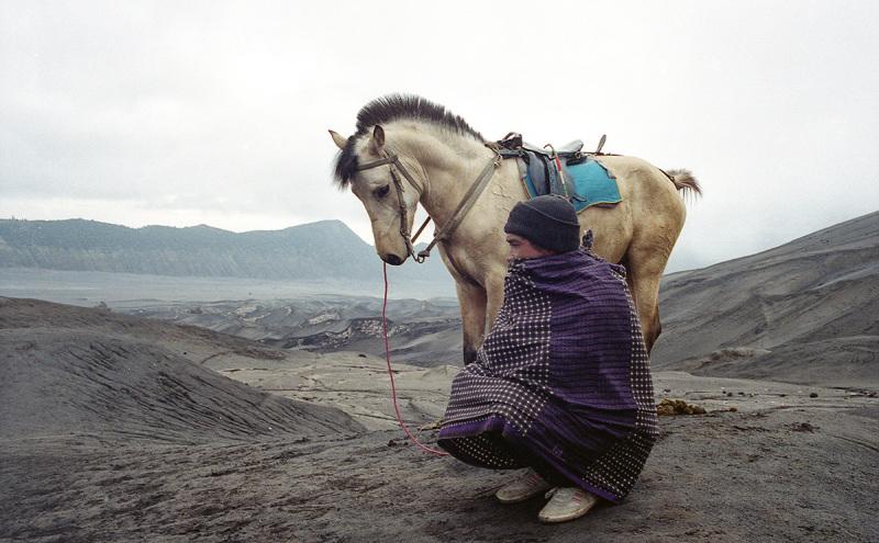 Horseman of Mount Bromo