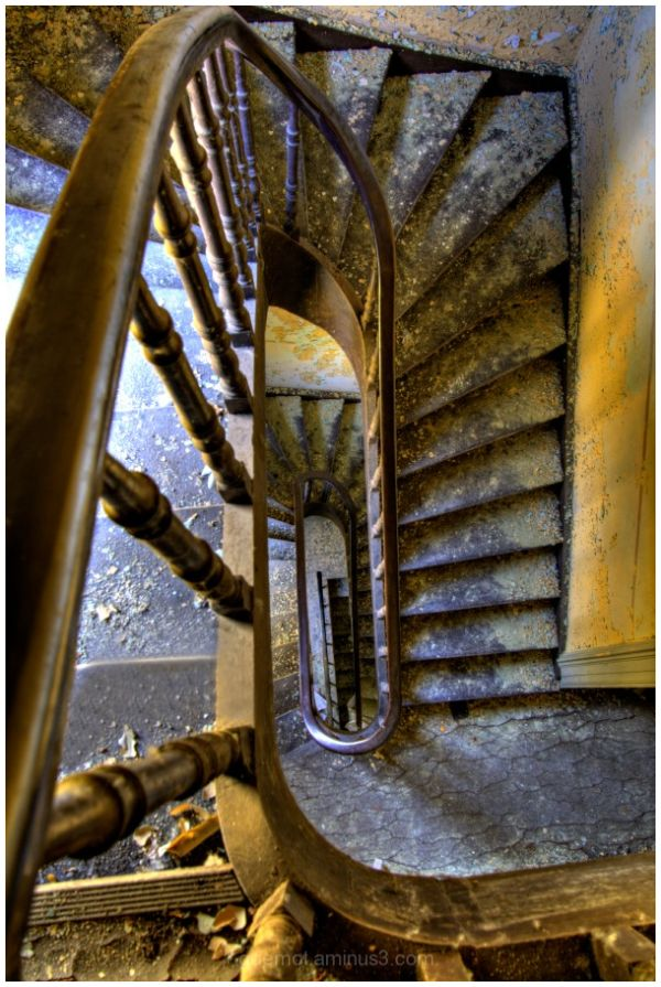 Stairs in the chateau of Rochendaal