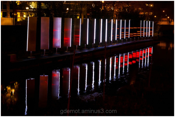 Nightshot of the lightfestival Glow in Eindhoven