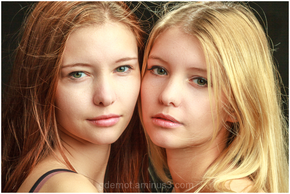 Portrait of Emma and friend