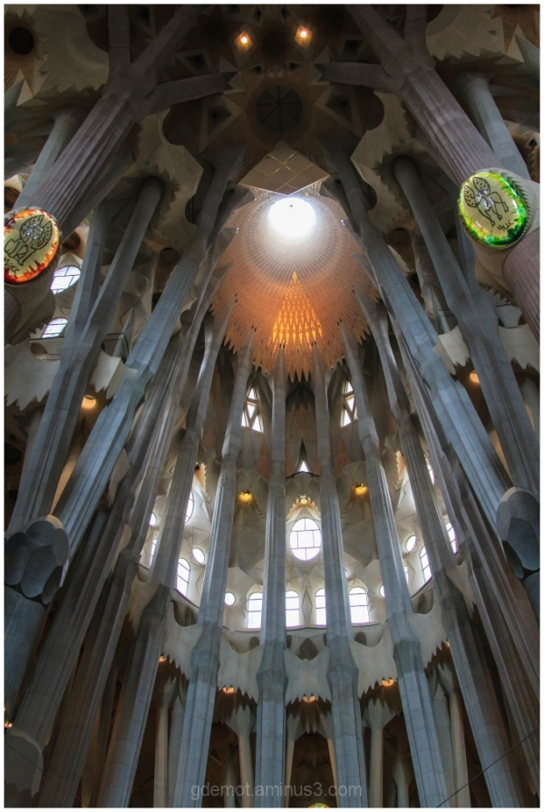 Inside La Sagrada Familia in Barcelona