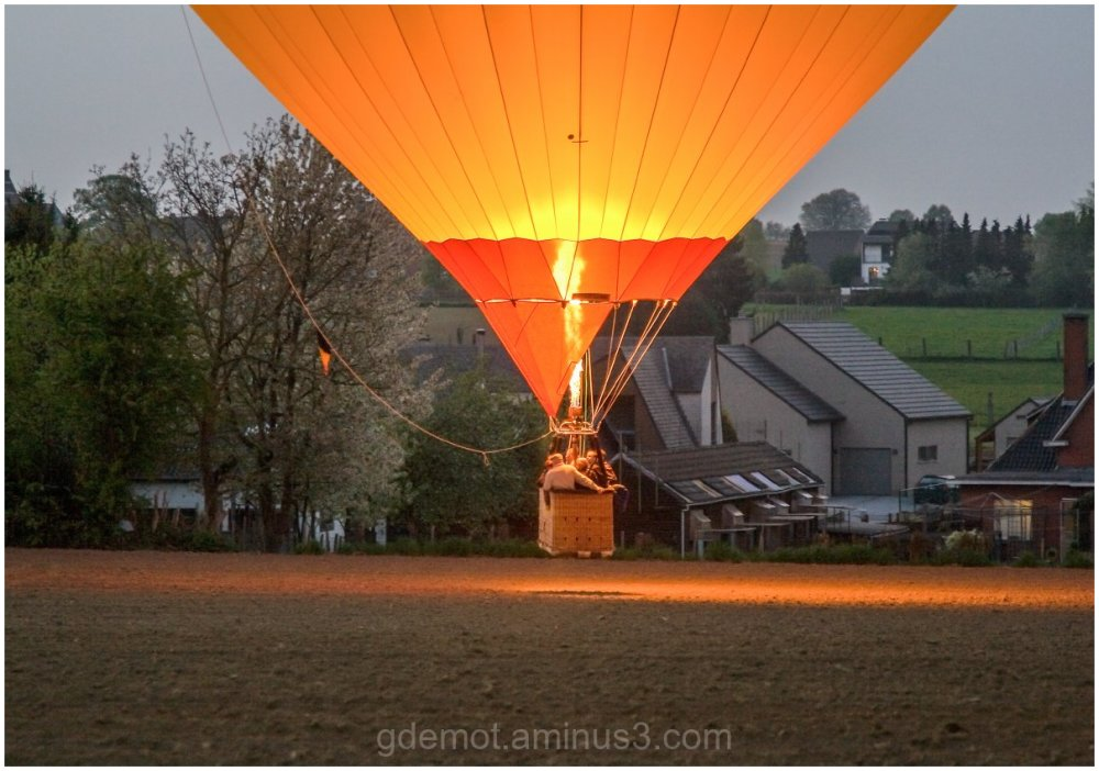 Landing of a air-balloon