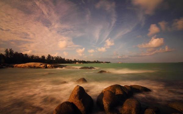 Penyabong Beach, Belitung Island, Indonesia
