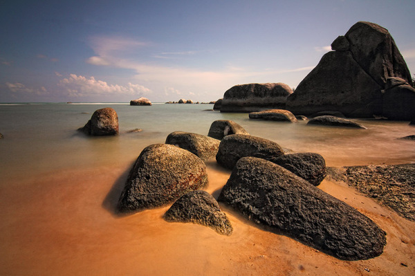 Penyabong Beach, Belitung Island, Indonesia