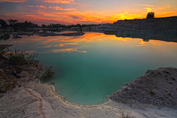 Kaolin Lake, Belitung Island, Indonesia