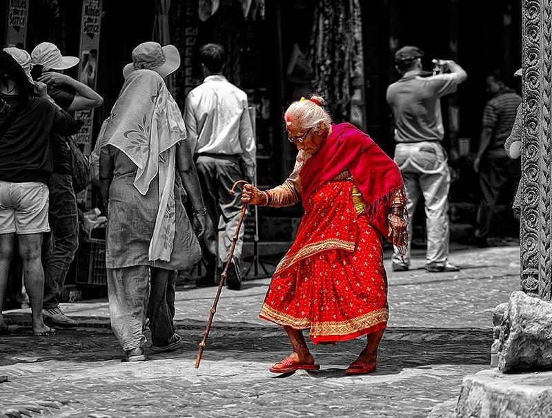 bhaktapur, Nepal, human interest, color splash