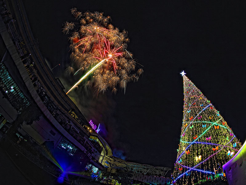 Merry Christmas 2014, Mal Alam Sutera, Fireworks,