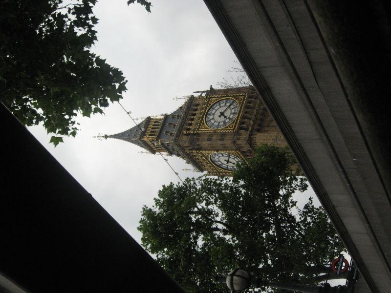 Sneak view of Big Ben