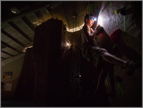 Headlamp Climbing