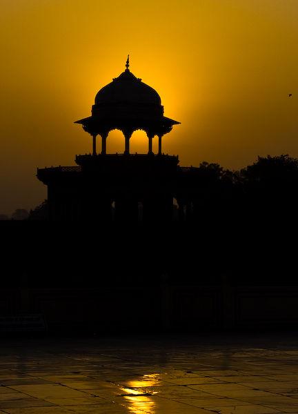 Sunrise from the Taj Mahal