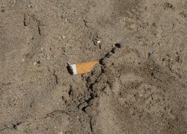 cigarette in the sand