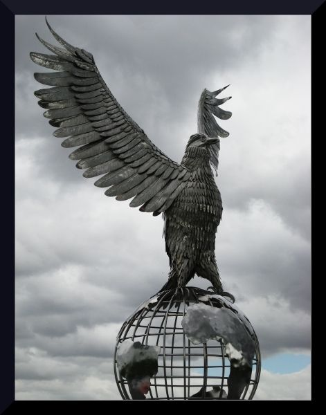 National Memorial Arboretum- Eagle on top of World