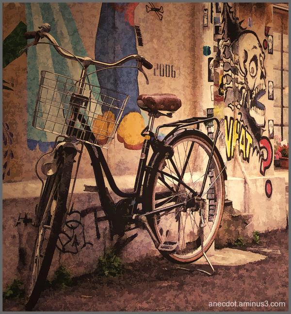 A bicyclette (1) ... (Tokyo, Japon)