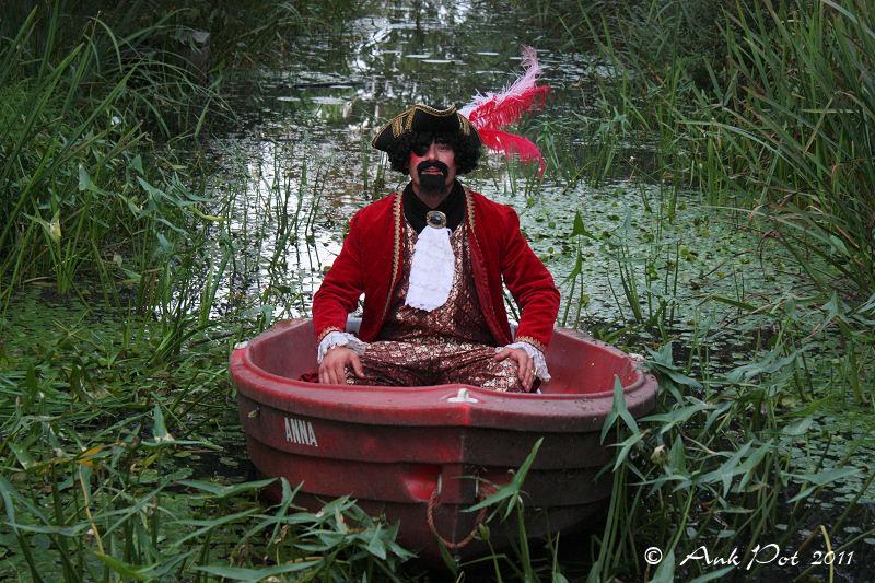 pirate in boat