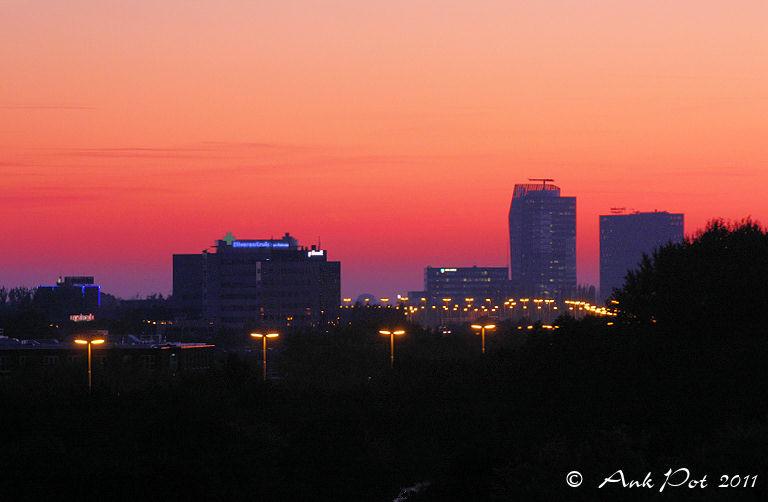 cityview at sunset