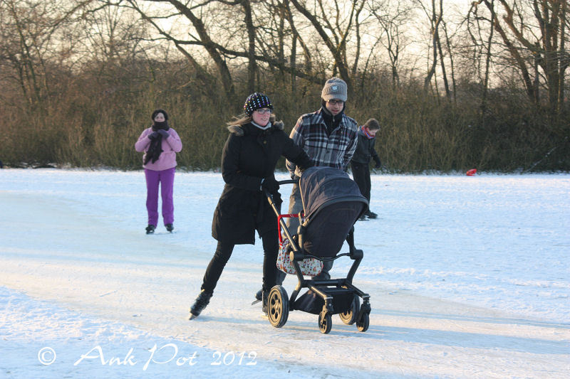 Iceskating family