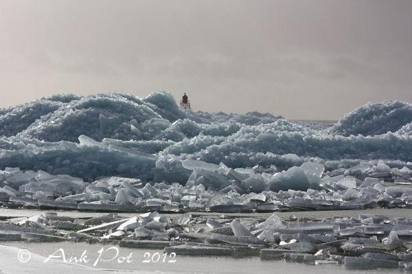 Drifting ice near Stavoren