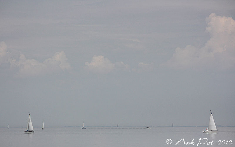 ships sailing on the lake