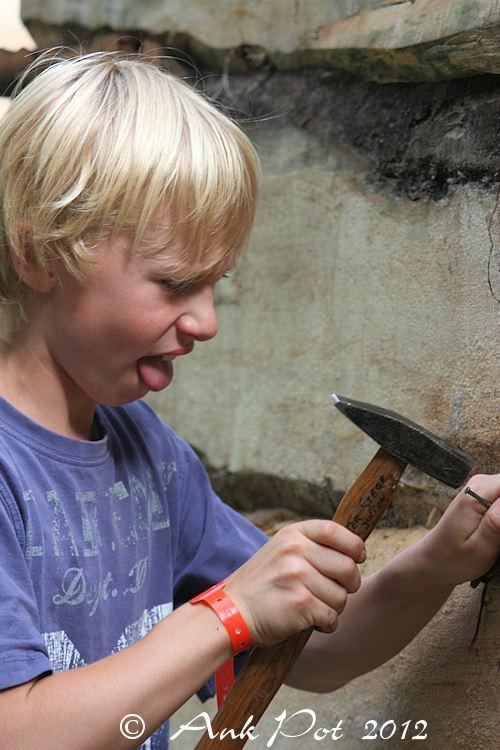 boy with hammer