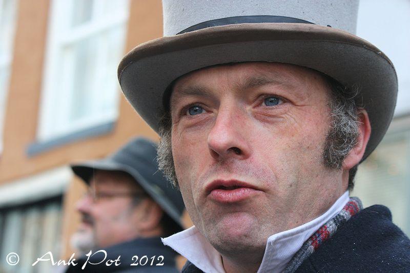 Man at Dickens festival Deventer