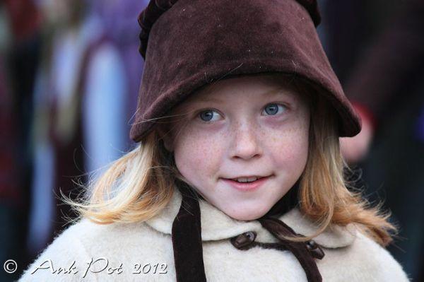 Girl at Dickens festival Deventer