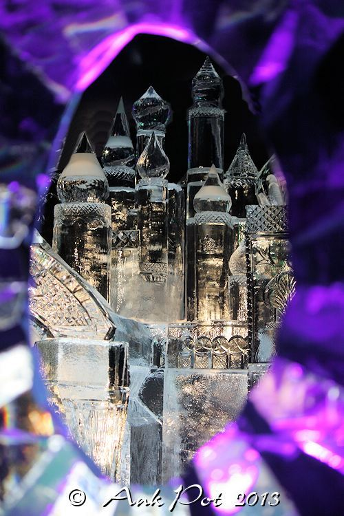 castle in ice