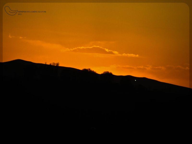 Orange sky..