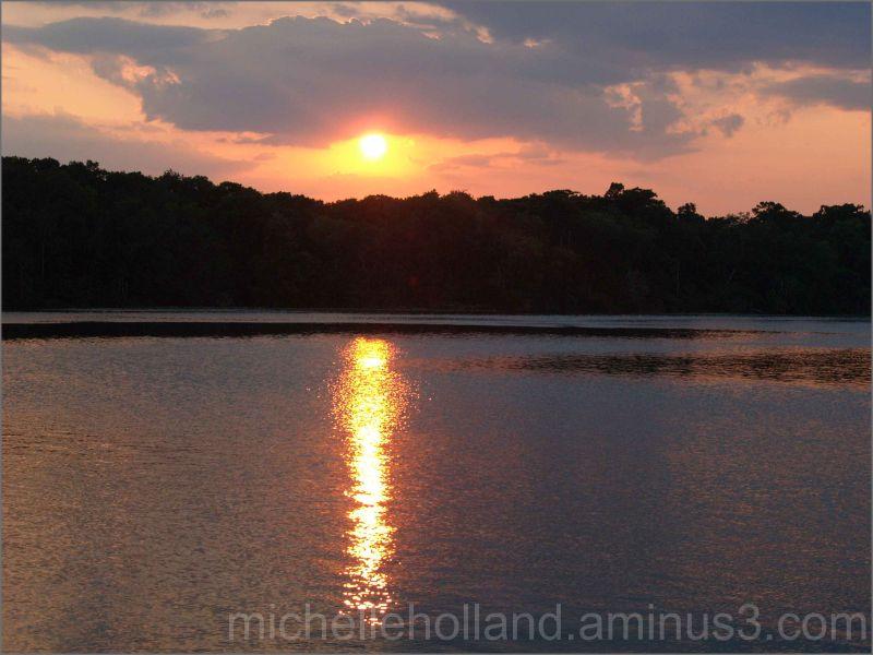 Sunset over the St. Johns River, Satsuma, Florida