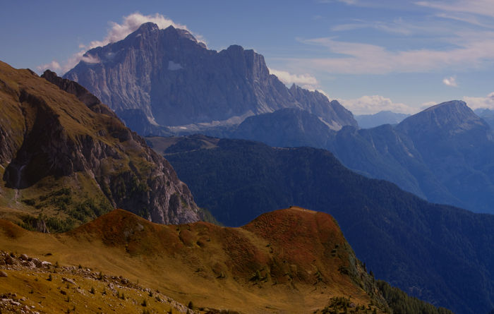 September Dolomites views