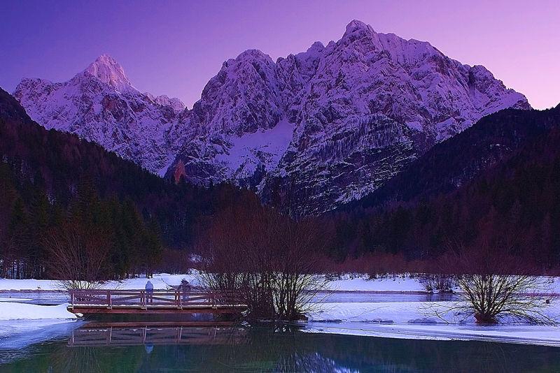 Razor Prisojnik at dusk Slovenia