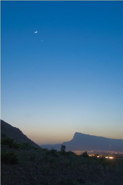 astrophotography, sky, venus, moon