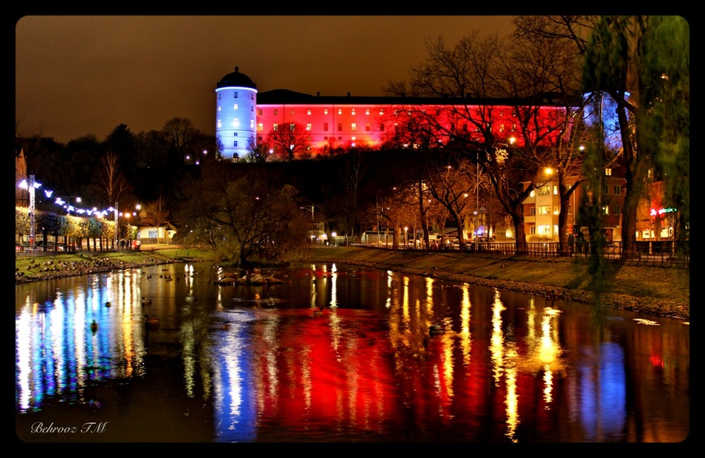 Uppsala Castel in Light Festival