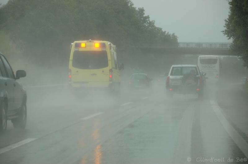Autoroute pluie