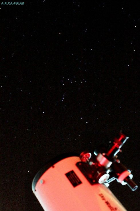 orion above the telescope