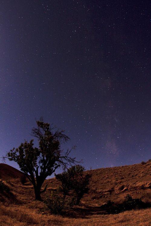 راه شیری زیر نور ماه تثلیث