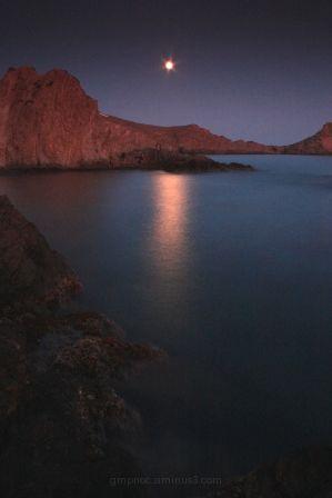 Moonrise (Cabo de Gata-Almería-Spain)- P