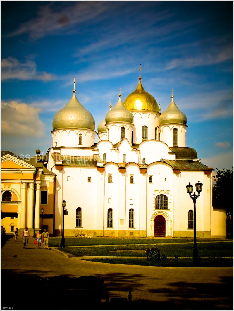 The Sofiya Cathedral with 13 domes