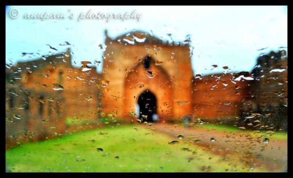 Through the rain sheet