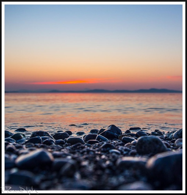 Sunrise on Cordova Bay Beach, Vancouver Island