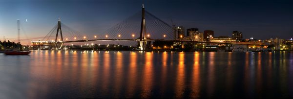 Anzac Bridge at dusk