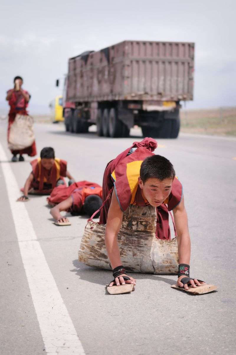 Monks on the road