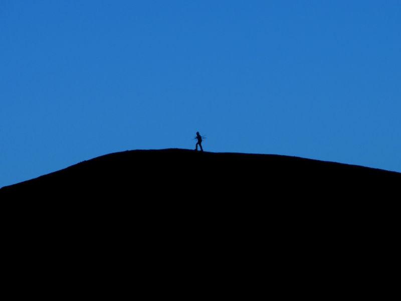 hillside silhoutte at dusk