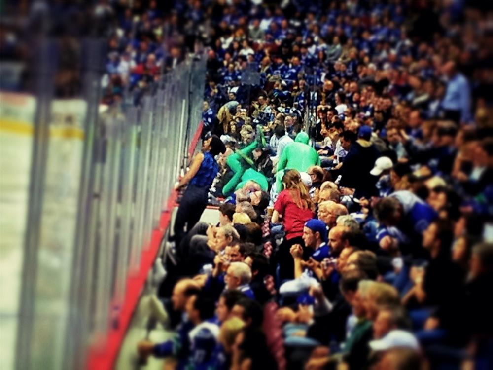 Green Men at Rogers Arena