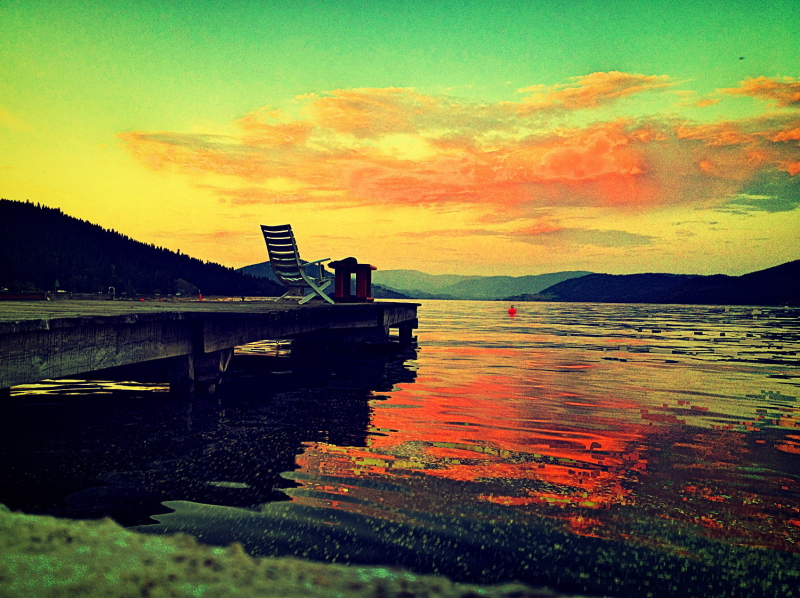 view of a dock on lake Okanagan
