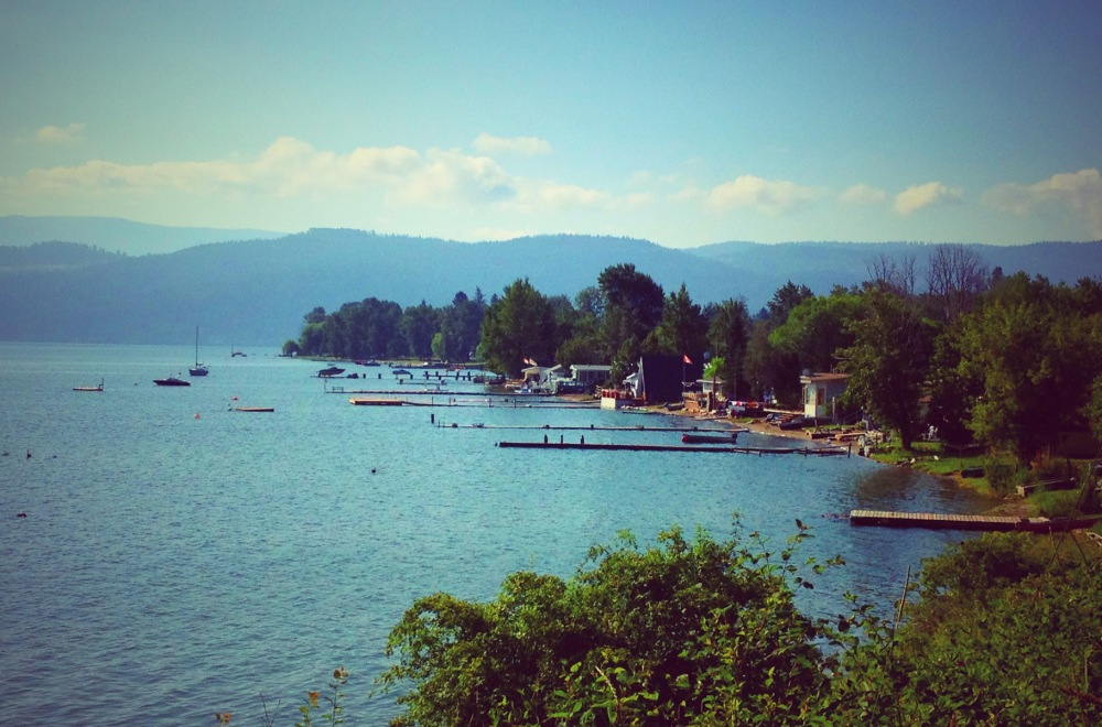 View of Okanagan Lake resort