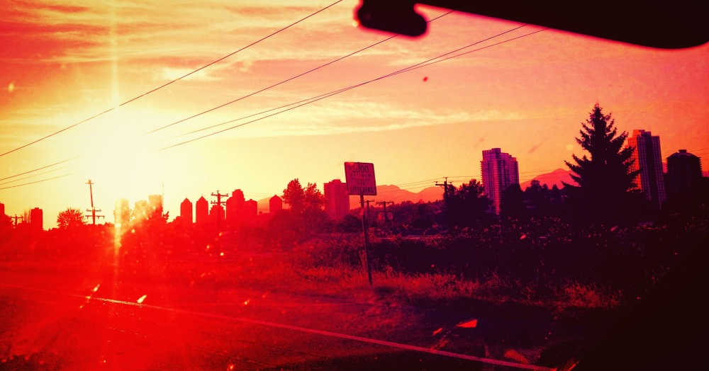 driving back into Vancouver
