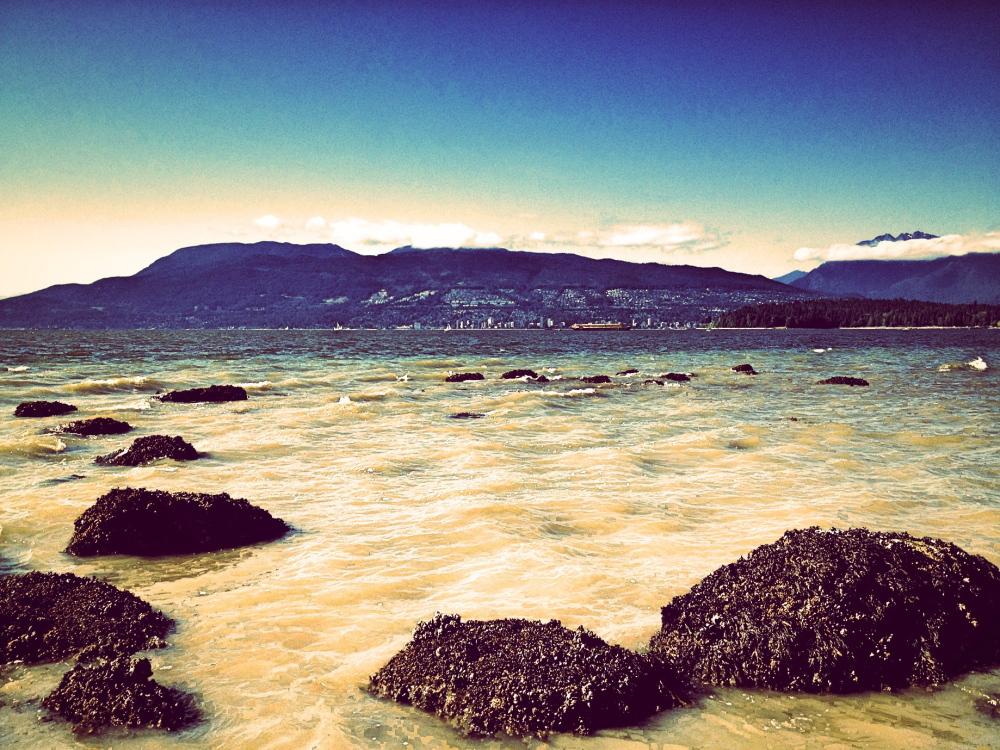 Vancouver beach near kitsilano