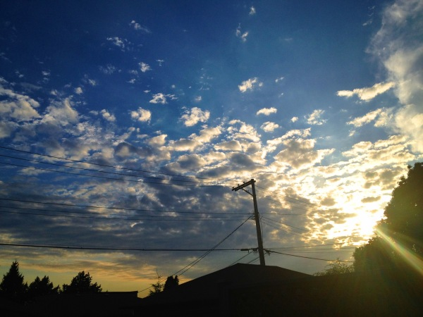 shot of the sky near house