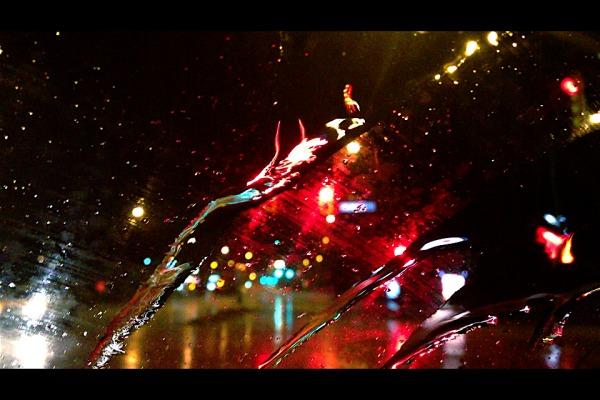 through my windshield