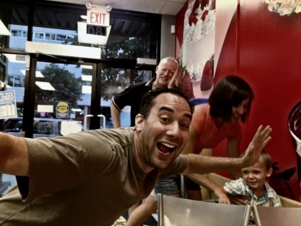 family at Marble slab